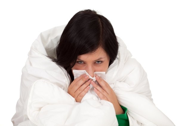 woman cold flu